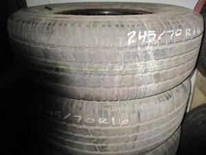 245/70R16 PAIR OF 2 ONLY USED GOODYEAR A/S TIRES