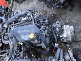 Vauxhall Corsa 1.6 16v Z12XE Complete engine and Gearbox 46,000 Miles