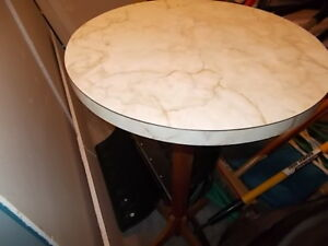 small table with marble top