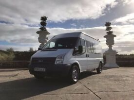 ***2013 TRANSIT CREW VAN 9 SEATER PSV TO DEC 2018 ONLY £39 A WEEK ON FINANCE ***