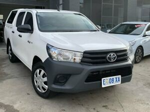 2016 Toyota Hilux TGN121R Workmate Double Cab 4x2 White 6 Speed Sports Automatic Utility North Hobart Hobart City Preview