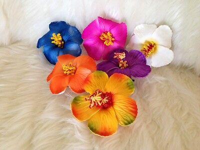 HAWAIIAN LUAU HULA HIBISCUS FOAM HAIR FLOWER HAIRCLIP - Hawaiian Luau Kostüme