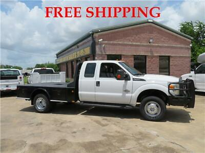 2015 FORD F-350 SUPER DUTY 4WD XLT 60639 Miles White Extended Cab Chassis-Cab Di