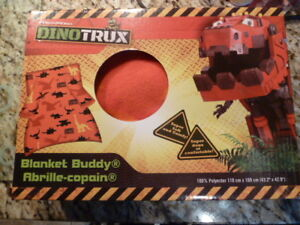 NEW DinoTrux Super Soft and Comfy Fleece Blanket Budd Kids