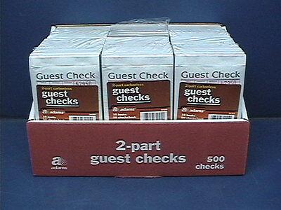 Adams SA108A 2 Part Carbonless Guest Checks, 60 Books / 50 Checks per Book