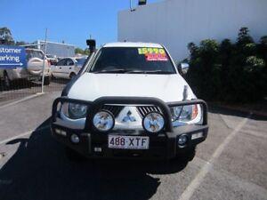 2006 Mitsubishi Triton ML MY07 GLX-R Double Cab White 5 Speed Manual Utility