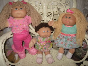 REDUCED! VINTAGE ORIG CABBAGE PATCH DOLLS, $20 EACH, MINT!