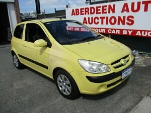 2006 Hyundai Getz TB Upgrade 1.6 Yellow 5 Speed Manual Hatchback West Perth Perth City Area Preview