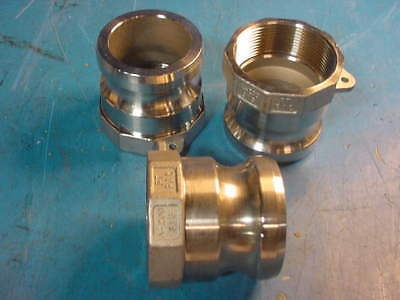 2 Type A200 Camlock Pt Coupling 316 Stainless Steel Male X Female Npt