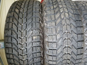 Selling 4 205/55/16 directional winter tires and rims
