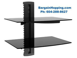 Dual Shelves Component Audio Video AV DVD Wall Shelves Bracket