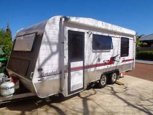 A DELUXE caravan twin wheel queen bed all as new, tv,radio,2 gas Stirling Stirling Area Preview