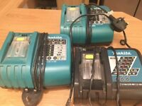 Makita Battery Chargers x 3