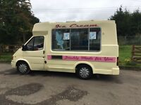 Ford Transit rarely available vintage style ice cream van with Van1 Capirgiani machine
