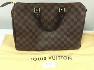 Authentic Louis Vuitton Speedy 35 (Damier Ebene; Made in France)