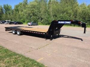 "NEW 2019 SURE-TRAC 102"" x 25' G/N DECK-OVER TRAILER (10 TON)"