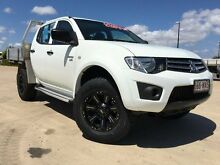 2011 Mitsubishi Triton MN GLX White 4 Speed Automatic Utility Garbutt Townsville City Preview
