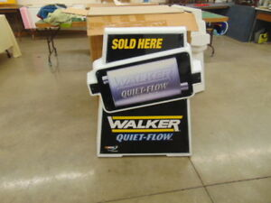 WALKER /MONROE MUFFLER CURB SIGN NOS