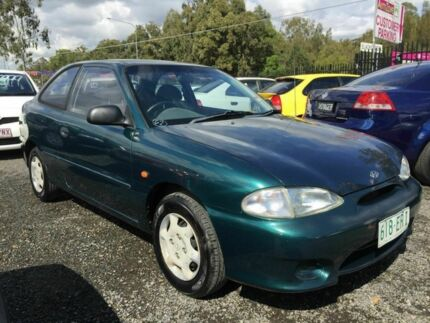 1998 Hyundai Excel X3 GX Green 4 Speed Automatic Hatchback Underwood Logan Area Preview