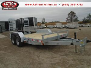 GALVANIZED 5 TON EQUIPMENT TRAILER 7X14' -OLD STOCK CLEAR OUT London Ontario image 1