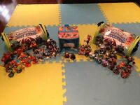 Complete Set of Skylander Giants, 3 Cases, Cards & Book