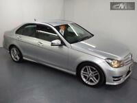 MERCEDES C CLASS C220 CDI BLUEEFFICIENCY AMG SPORT, Silver, Auto, Diesel, 2013