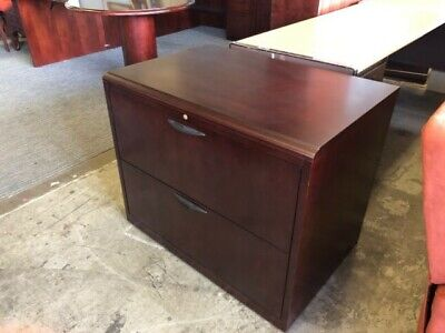 2 Drawer Lateral Size File Cabinet By Paoli Office Furn In Mahogany Wood