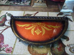 Beautiful Antique, Half Moon Shaped, Dresser Tray