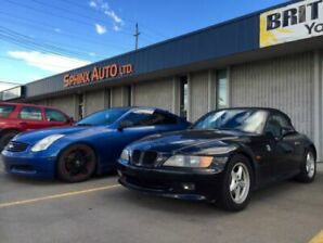 BMW Z3 black coupe convertible E36 sports car