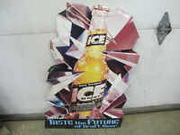 Bud Ice Beer Advertising Tin Sign