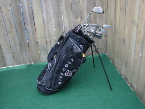 Men's Right Hand Nike golt club sets with Nike bag