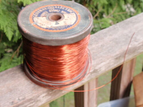 VINTAGE G.E.FORMEX COPPER MAGNET WIRE  FULL SPOOL   6.8 LBS