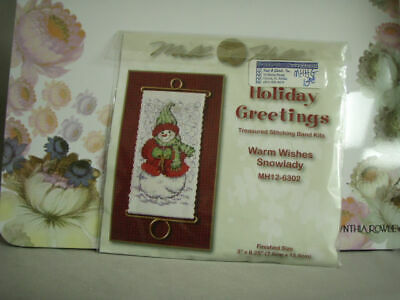 Mill Hill Holiday Greetings Treasured Stitch Band CCS Warm Wishes Snowlady NIP Holiday Greetings Band