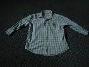 Boys Size 8 Long Sleeve Plaid Dress Shirt
