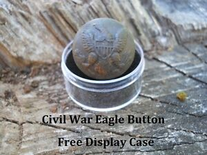Old-Rare-Vintage-Antique-Civil-War-Relic-Federal-Eagle-Button-Appomattox-VA-Camp