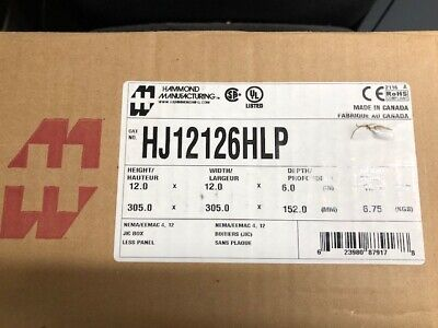 Hammond Hj12126hlp Junction Boxes