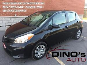 2012 Toyota Yaris LE   $58 Weekly $0 Down *OAC / Auto / A/C