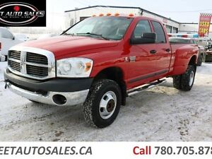 2008 Dodge Ram 3500 ST 4x4 6 Speed Manual Diesel Long Box Dually