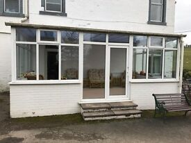 Conservatory - window structure PVC - only a few years old, selling due to redesign of building