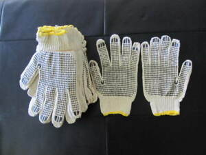 Industrial Supplier:PVC Dots one-sided Cotton Gloves