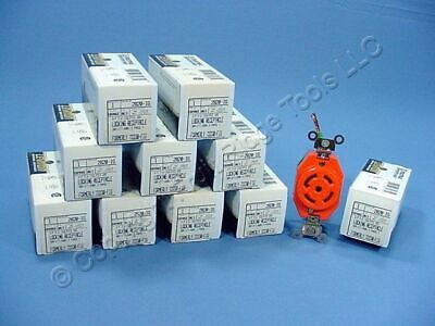 10 Leviton L22-30r Isolated Ground Locking Outlets 30a 277480v 3y 2820-ig-063