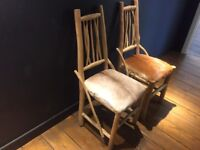 Oak and Hide Chairs