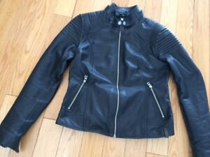 Manteau de cuir Rudsak style moto