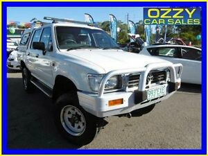 1997 Toyota Hilux RN105R (4x4) White 5 Speed Manual 4x4 Dual Cab Pick-up Penrith Penrith Area Preview