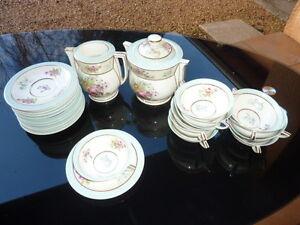 porcelaine de limoges lanternier service a cafe sucrier cremier tasses ebay. Black Bedroom Furniture Sets. Home Design Ideas
