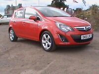 VAUXHALL CORSA 1.2 SXI ECOFLEX 5 DOOR £30.00 ROAD TAX PANORAMIC ROOF £4795