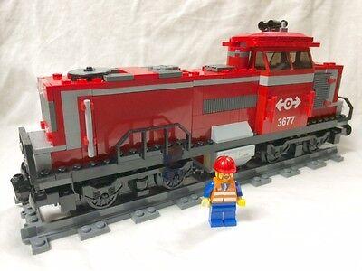 Lego City Red Cargo Train Diesel Engine + Motor (NO PF) 60052/60098/7939/3677 - Lego Cargo Train