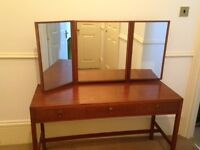 Mid century Loughborough dressing table and chest of drawers
