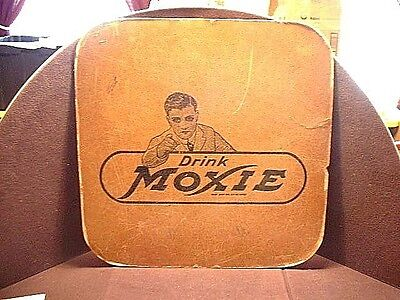 Large Antique 2 Sided Moxie Country Store Root Beer Soda Advertising Store Sign