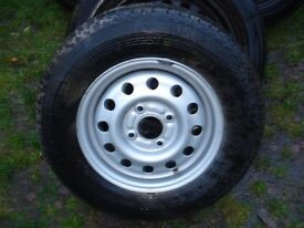 OFFERS WELCOME- ONE ONLY FORD ESCORT VAN WHEEL AND TYRE 165 R13 82T PIRELLI P4 - NORTHWICH CHESHIRE